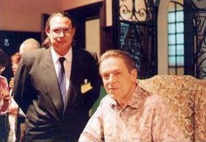 Juan Acevedo junto a Stan Groff en su visita a Bs. As. de 1995