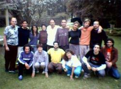Taller del mes de Agosto del 2004 junto a Adriana Ferreyra y Rita Tanoni, compañeras de viaje