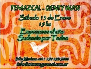 Ceremonia de Temazcal en Kenty Wasy - Sábado 13 de Enero, 15hs. @ Quilmes Oeste | Buenos Aires | Argentina
