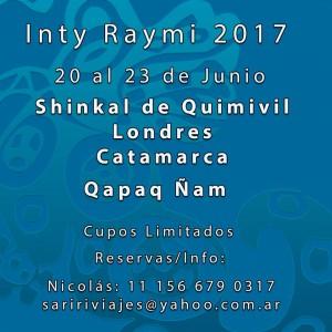 Inty Raymi 2017: Celebración en el Centro Ceremonial y Arqueológico Shinkal de Quimivil
