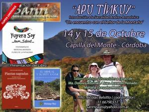Sariri Apu Tinkuy a Capilla del Monte, Cordoba y Presentación de los Libros